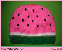 Pink Watermelon Hat by Stitch-Happy