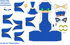Sonic the hedgehog Papercraft by terrmedia