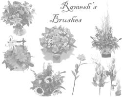 Flower Brush Set I by ramesh000