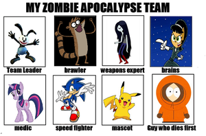 My Zombie Apocalypse Team by SuperMarcosLucky96