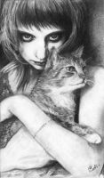 girl with cat by Radio-cat