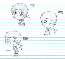 APH Random Facial Expression Chibis by InvaderJes11