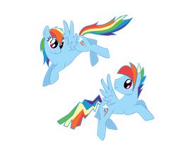 rainbow dash and rainbow blitz vector by keeveew