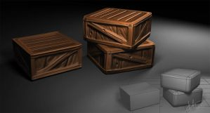 Lowpoly Crates by bananamannen