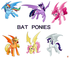 Bat Ponies by norang94