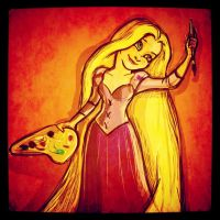 Rapunzel ~ Sun-Bleached and Coloring by GHDrisdale