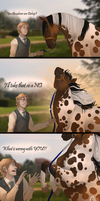 Meeting the Horses - Bishop by FeatherCandy