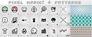 pixel mario + patterns by exageth