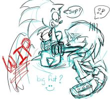 -WIP- Sonic Vs Knuckles by DeathlingDog