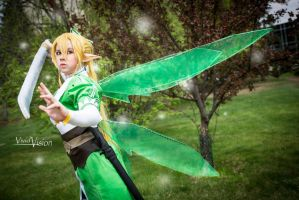 Leafa's Battle by vi-ki