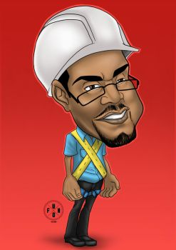 Caricature of Electric company worker by emoboyfuno
