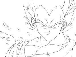 Vegeta Outlines by BeelZataS