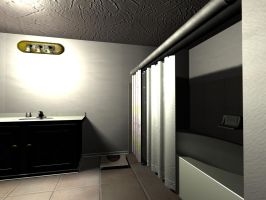 A 3d Bathroom by Seconds-Design