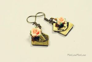 I Love You vintage inspired earrings by MonLoveMonLove