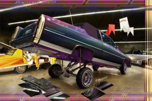 Cadillac Lowrider on carshow by BarneyHH
