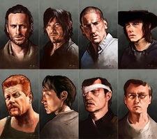 The Walking Dead, Heroes and Villains by MimmuArt