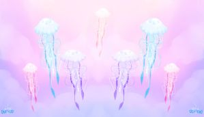 Pastel Jellies in the Sky Quick Wallpaper edit by eriekate
