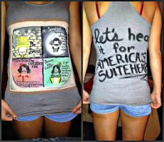 America's Suitehearts Fall Out Boy Concert Tank by Serene22