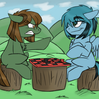 Playing Checkers by LeKraZytacos