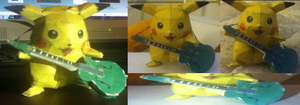 Pikachu Rocks Out by Inuranchan