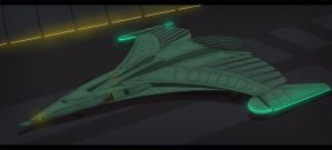 Star Trek Romulan Fighter by AdamKop