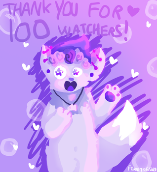 THANK YOU FOR 100 WATCHERS + pride month by loveart56