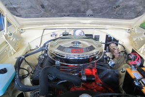 66 Plymouth 426 Hemi engine by zypherion