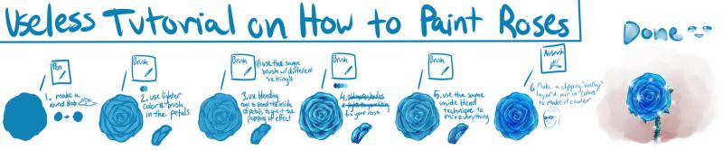 How to Paint Roses (( For Super Lazy People)) by potpoorri