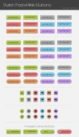 Pastel Web Buttons by wilde-media