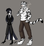Tiger and Magpie by Midoromi