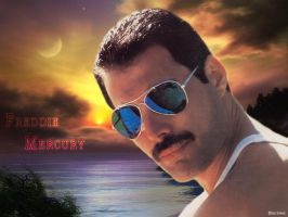 Freddie Mercury - Beach by Lord-Iluvatar
