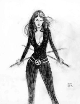 Psylocke pencil commission by Andrew-Robinson