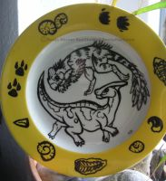 Dino Painted Plate by RonTheWolf