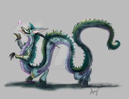 Blue Mushu Dragon by Mad--Munchkin