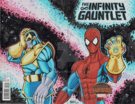 Infinity Gauntlet Sketch Cover by Budprince