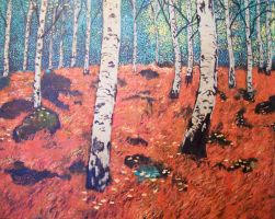 Russian Birch Forest by Landscapist