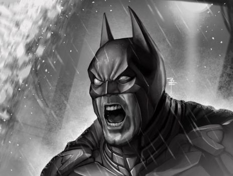 Batman Headshot fanart by BrianFajardo