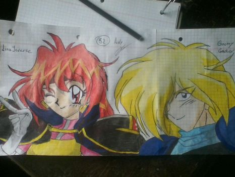 lina y gourry by Andy-punky