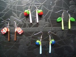 Set of 4 Pocky Earrings by Demi-Plum