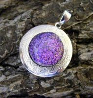 Dichroic Glass Locket by Create-A-Pendant