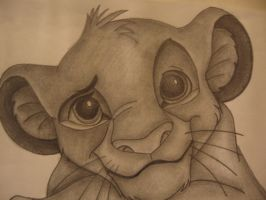 Simba Drawing- Head shot by sazmullium
