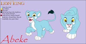 Lion King OC Abeke by xavs-pixels