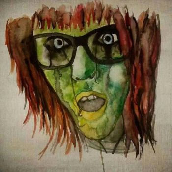 Zombie Self Portrait  by mdmamy