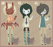 Demonic Adopts (Closed) by LizardBat