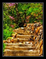 Magical Stone Staircase by XanthicAmber