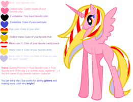 Mary Sue OC - Queen Pink Sunset Tom Cat by sugarhigh123