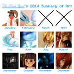 2014 Summary Of Art by TheLonelyQueen
