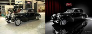 1937 Bugatti before and after by theCrow65