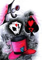 Mad Hatter with Cards by lilsuperlaura