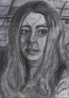 charcoal portrait by allychan